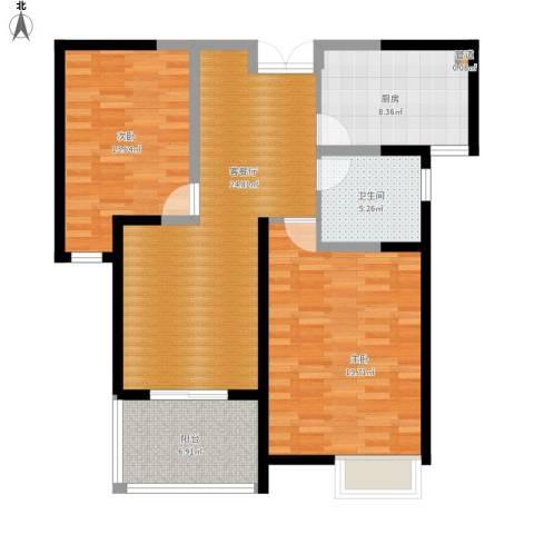 华辰丽景2室1厅1卫1厨112.00㎡户型图