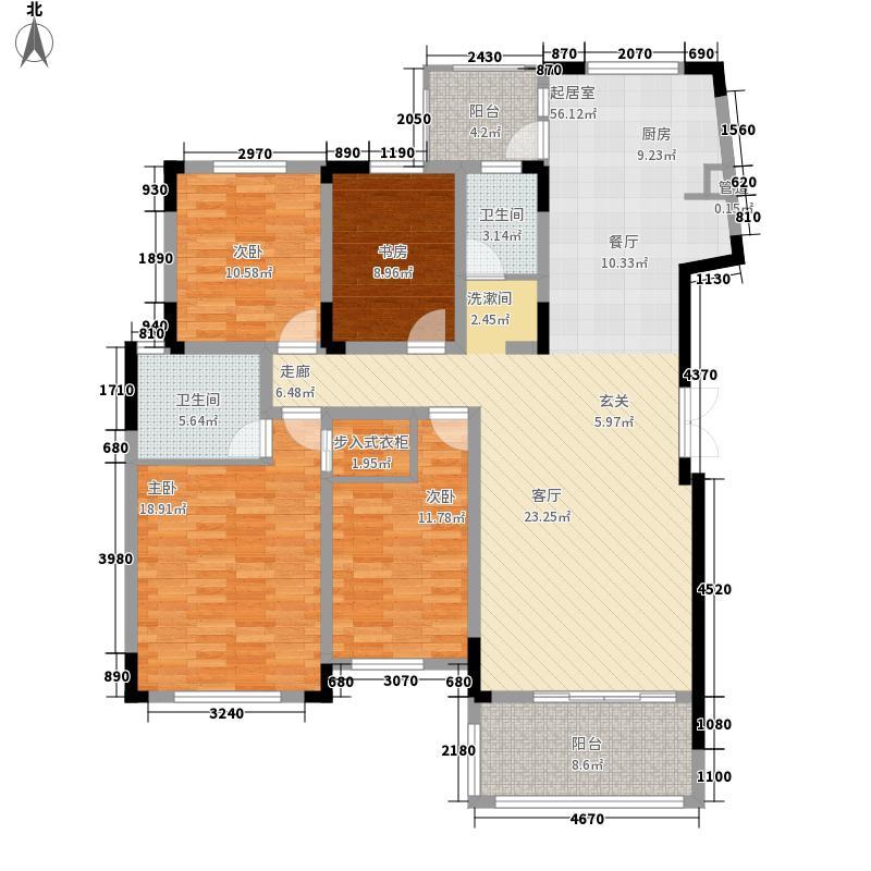 凯乐湘园147.94㎡I面积14794m户型