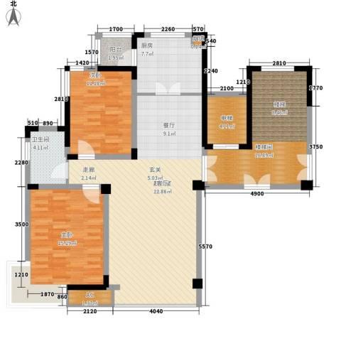 中房凌云花园2室0厅1卫1厨115.91㎡户型图