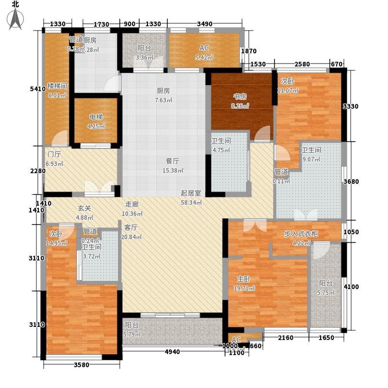 江湾翰林198.00㎡江湾翰林户型图A1户型4室2厅4卫1厨户型4室2厅4卫1厨
