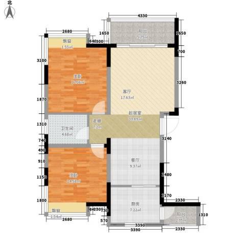 金鸡岭社区2室0厅1卫1厨121.00㎡户型图