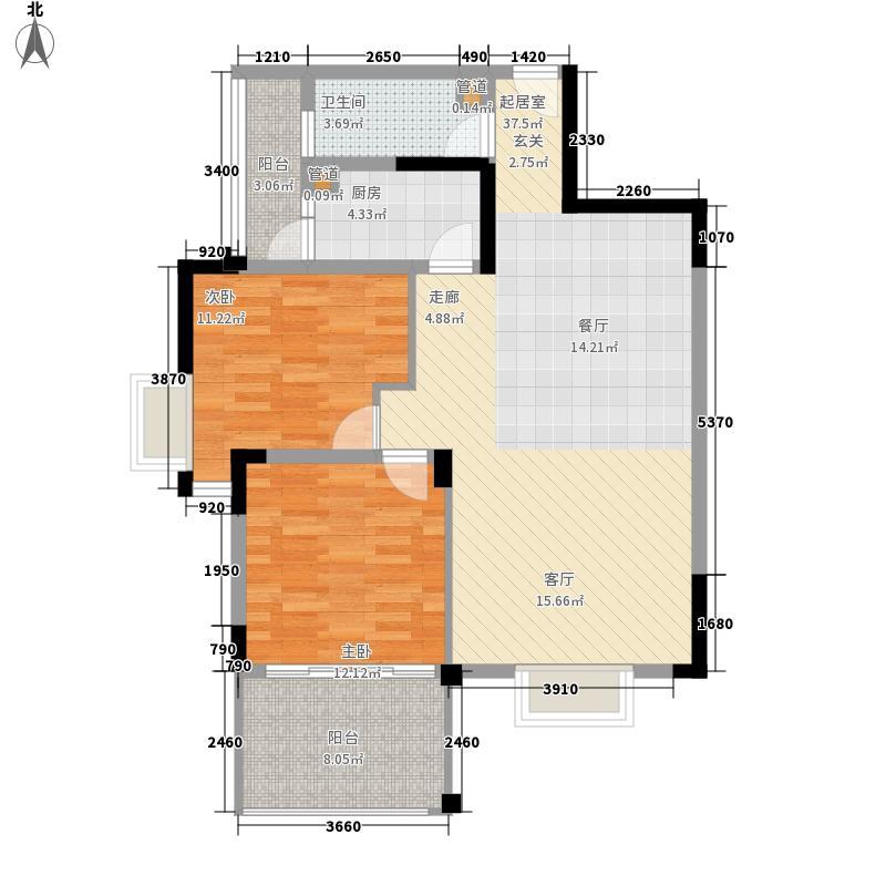 尚林家园91.15㎡A2-2型户型2室2厅1卫1厨