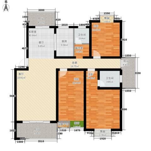 桑海春天3室0厅2卫1厨136.00㎡户型图