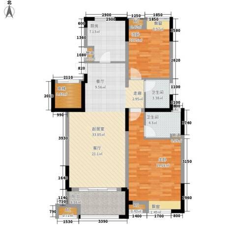 水畔兰庭2室0厅2卫1厨108.00㎡户型图