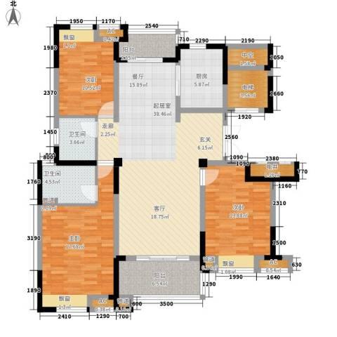 水畔兰庭3室0厅2卫1厨140.00㎡户型图