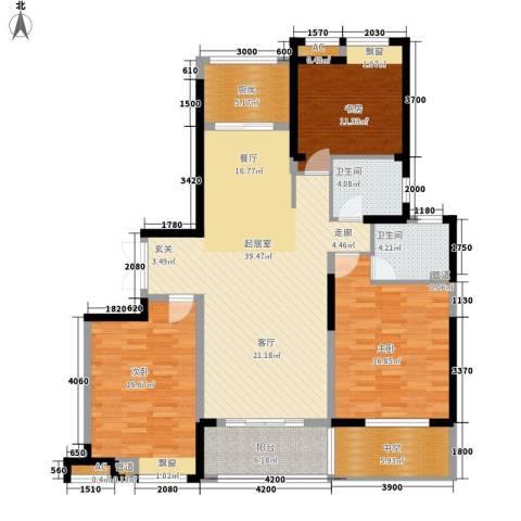 水畔兰庭3室0厅2卫1厨142.00㎡户型图