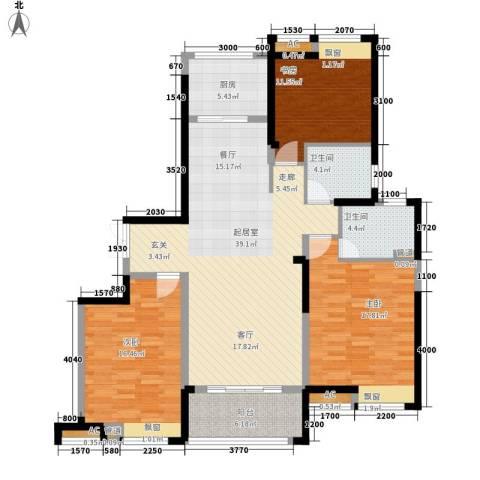 水畔兰庭3室0厅2卫1厨148.00㎡户型图