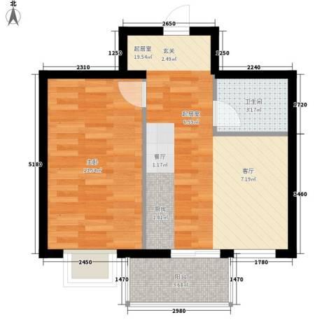 人和明苑秀景阁1室0厅1卫0厨39.93㎡户型图