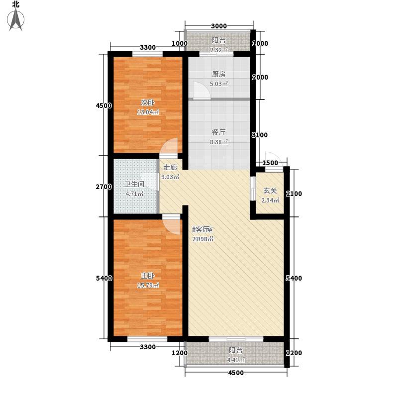 尊龙苑四季阳光户型图2室2厅