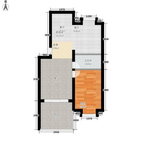 人和明苑秀景阁1室0厅1卫0厨43.00㎡户型图