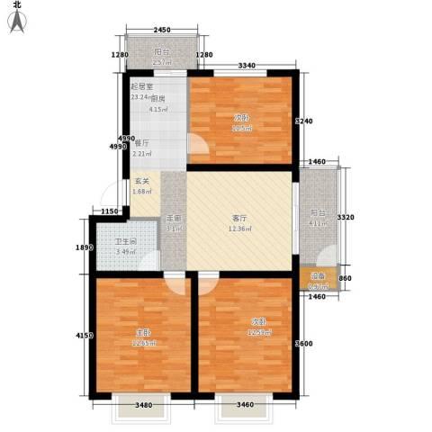 人和明苑秀景阁3室0厅1卫0厨70.11㎡户型图