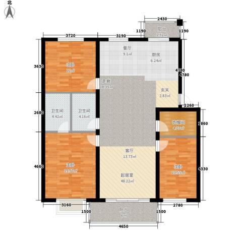 人和明苑秀景阁3室0厅2卫0厨114.00㎡户型图