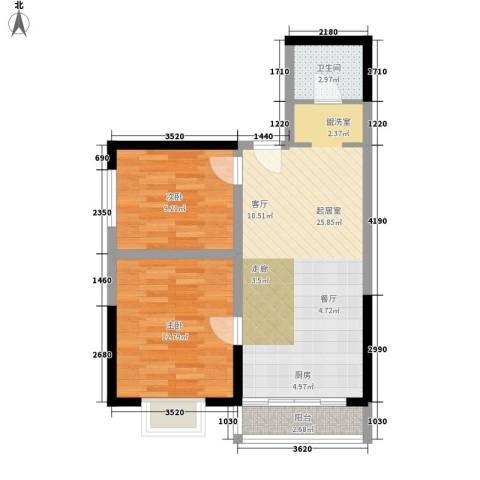 金海湾2室0厅1卫0厨73.00㎡户型图