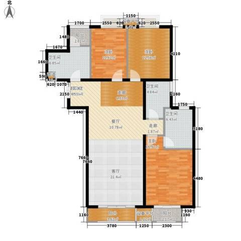 新华联丽景3室0厅3卫0厨153.00㎡户型图