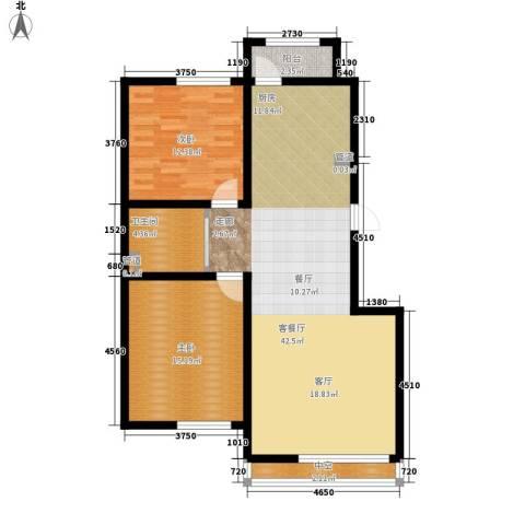 雍达华仁公馆2室1厅1卫0厨90.00㎡户型图