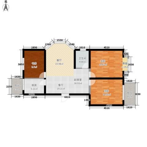 阅江花苑3室0厅1卫1厨99.00㎡户型图