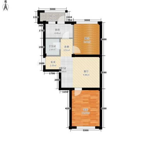 惠和经典1室0厅1卫1厨55.00㎡户型图