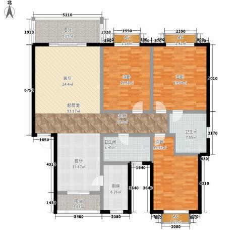 水秀艺墅别墅3室0厅2卫1厨160.00㎡户型图