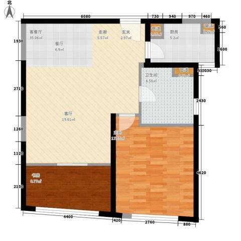 香梅花园五期2室1厅1卫1厨82.00㎡户型图