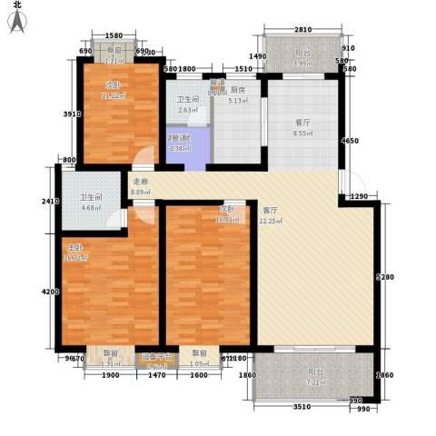 桑海春天3室0厅2卫1厨125.00㎡户型图