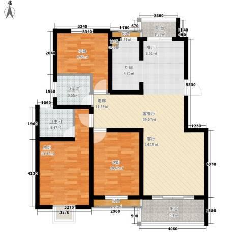 枫逸人家3室1厅2卫0厨102.00㎡户型图