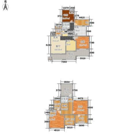 雨山美地4室1厅3卫1厨195.87㎡户型图