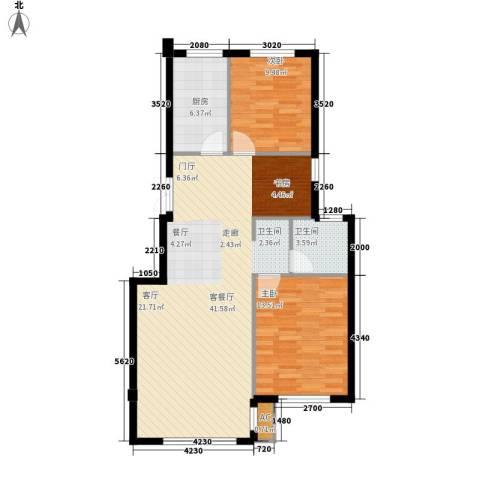 HIGH空间2室1厅1卫1厨104.00㎡户型图