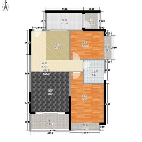 恒大城2室0厅1卫1厨97.00㎡户型图