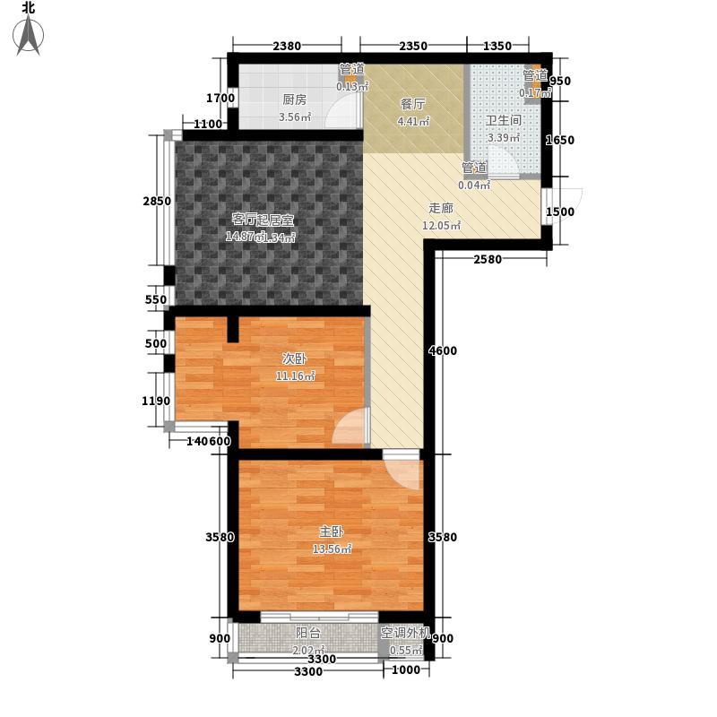 翰玉门庭95.00㎡C面积9500m户型
