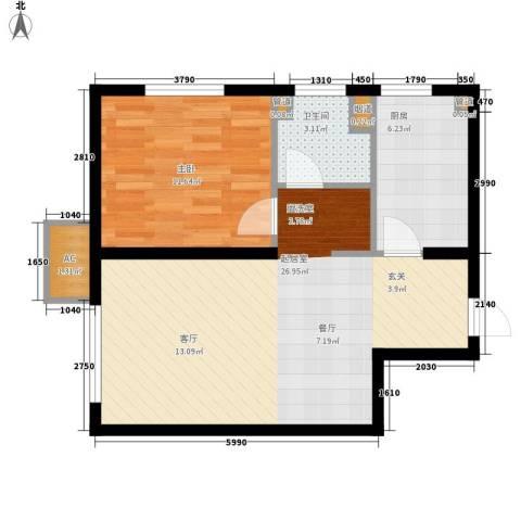 龙湖・紫都城1室0厅1卫1厨55.00㎡户型图