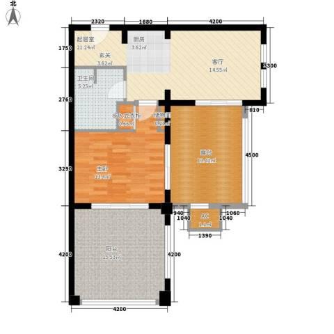 东和福湾1室0厅1卫0厨73.00㎡户型图