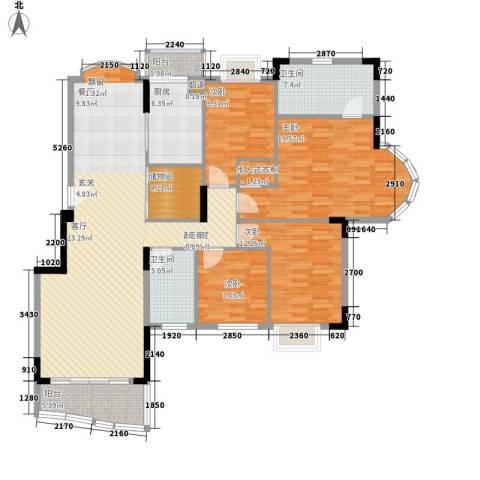 东城中心四期4室0厅2卫1厨141.00㎡户型图