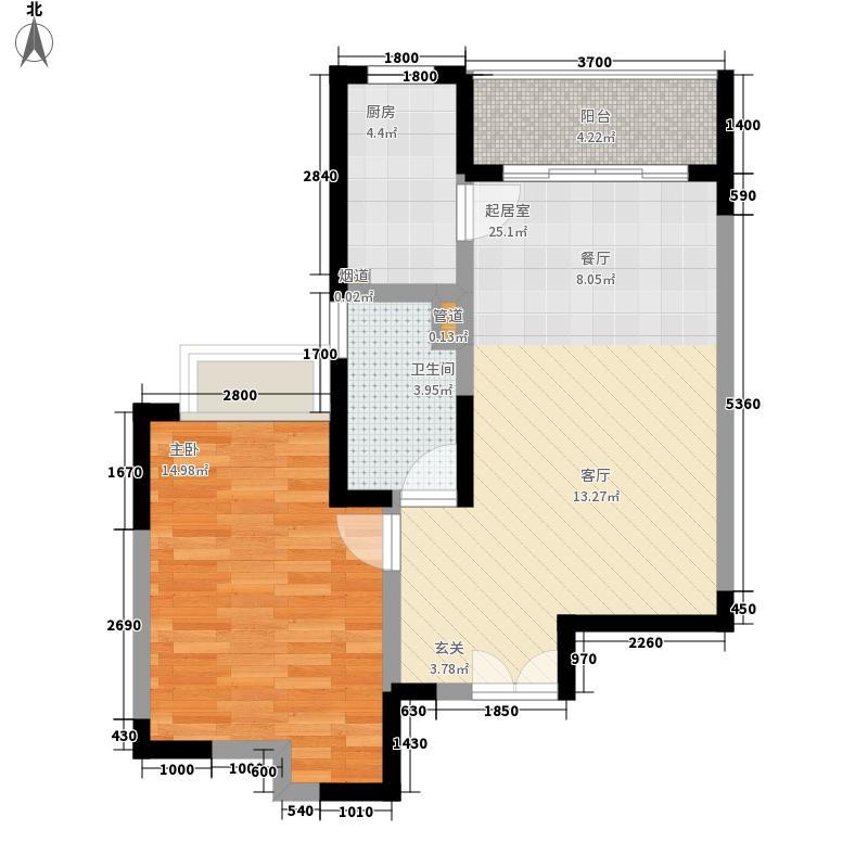 东城中心四期94.00㎡东城中心四期3室户型3室