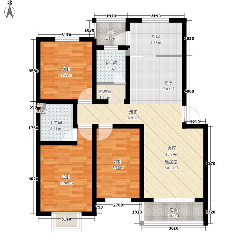香格里拉花园93.00㎡香格里拉花园3室户型3室