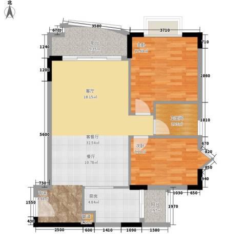 农科院小区2室1厅1卫1厨99.00㎡户型图