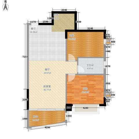 车陂检察院宿舍2室0厅1卫0厨88.00㎡户型图