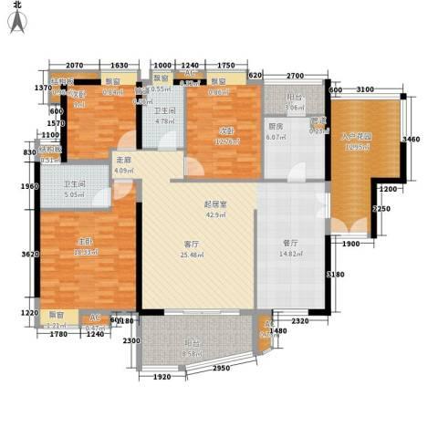 河滨北路小区3室0厅2卫1厨179.00㎡户型图