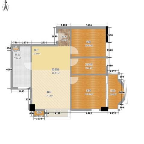 车陂检察院宿舍2室0厅1卫1厨80.00㎡户型图