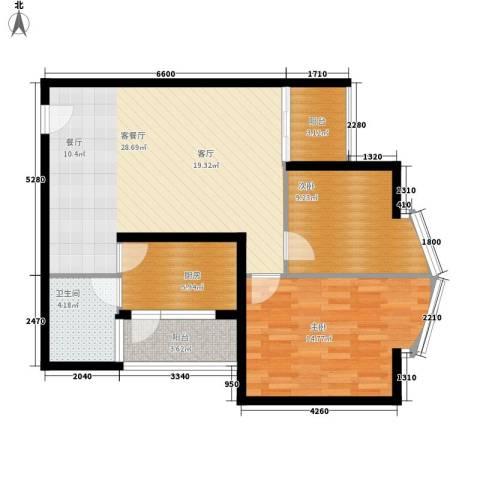 恒安大厦恒福轩2室1厅1卫1厨79.00㎡户型图
