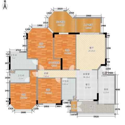 汇景新城明月清泉别墅4室0厅3卫1厨204.00㎡户型图