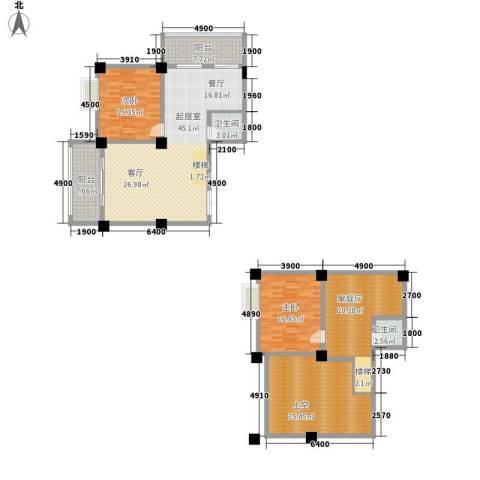 汇丰国际度假公寓2室0厅2卫0厨144.00㎡户型图