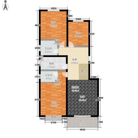 富沁园3室0厅2卫1厨143.00㎡户型图
