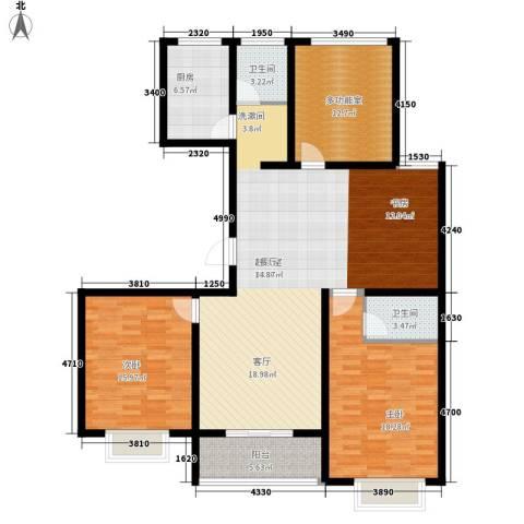 华夏太阳城二期2室0厅2卫1厨130.00㎡户型图