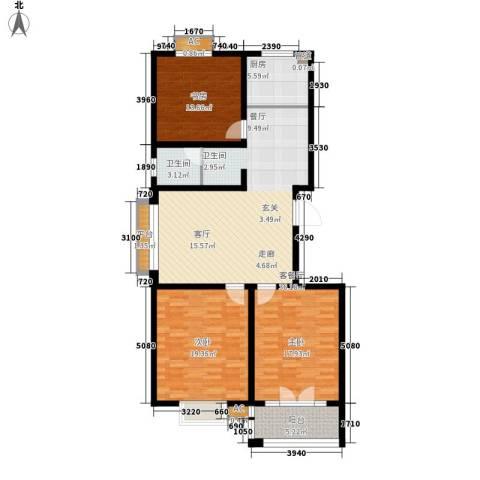 华夏太阳城3室1厅1卫1厨119.00㎡户型图