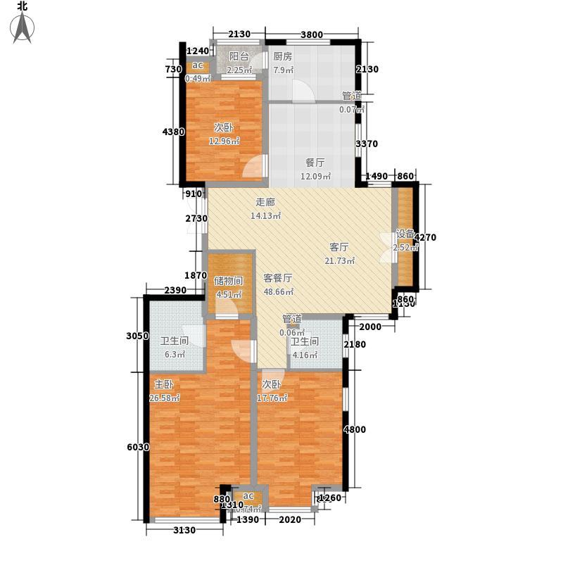 济南鲁能领秀城152.98㎡济南鲁能领秀城户型图10号楼三室两厅A(售完)3室2厅户型3室2厅