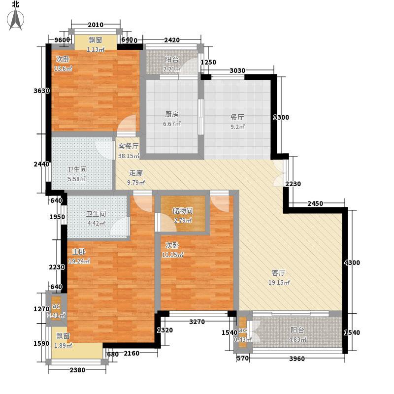 济南鲁能领秀城154.04㎡济南鲁能领秀城户型图E2/E3#B1(售完)3室2厅2卫户型3室2厅2卫