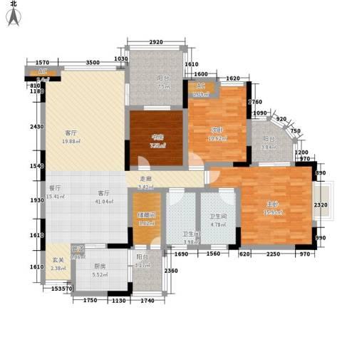帝豪峰3室1厅2卫1厨160.00㎡户型图