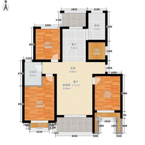 香格里拉花园3室0厅1卫1厨114.00㎡户型图