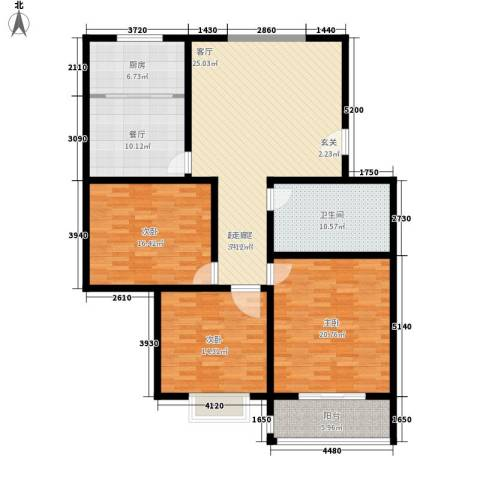 风筝恋雅舍3室1厅1卫1厨168.00㎡户型图