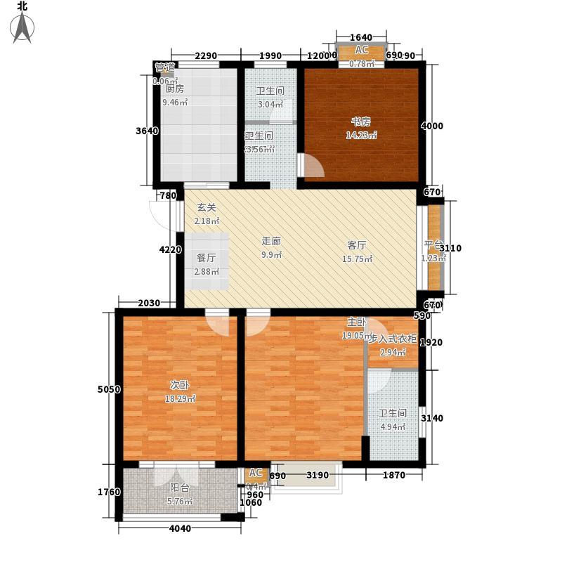 华夏太阳城130.09㎡华夏太阳城户型图K3室2厅2卫户型3室2厅2卫